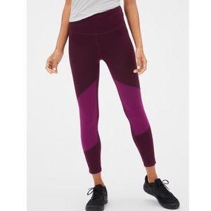 Mid-rise 7/8 length color block leggings. NWT